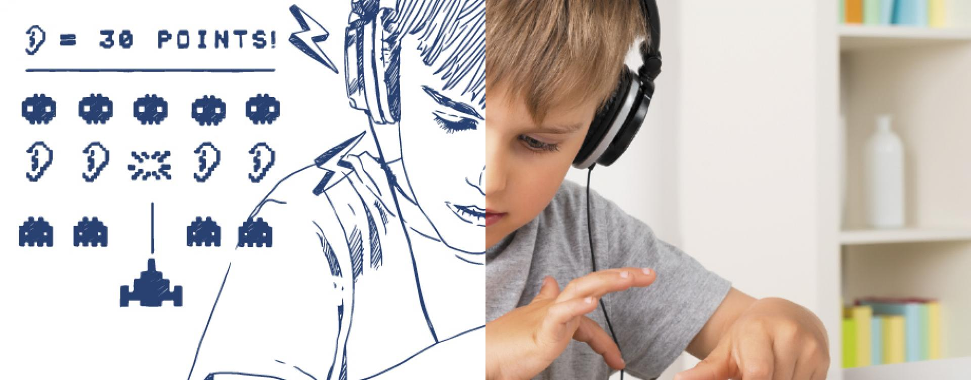 ITL Child with headphones